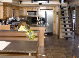 3 Story Titan Houseboats Galley