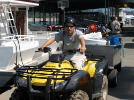 Orientator Mike-taking care of customers belongings with our Quad Squad service